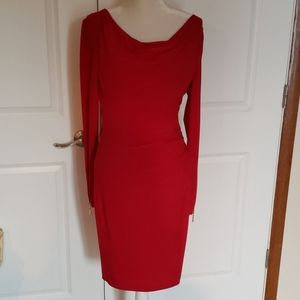 Cache Zipper Dress Size 6 Cherry Red